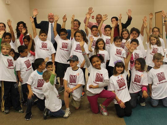 Desert Star Elementary students were asked to raise their hands if they are college-bound.