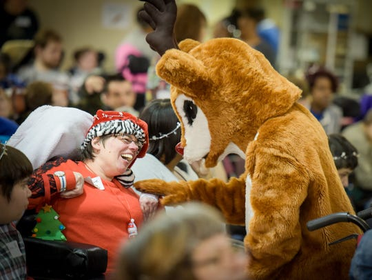 Rudolph the Red Nose Reindeer visits Christine L. during