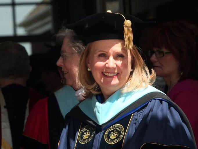 The Inaugural Celebration of Dr. Helen J. Streubert, the seventh president of the College of Saint Elizabeth, April 25, 2014, Morris Twp, NJ. Bob Karp/staff photographer