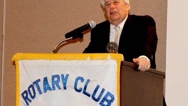 York County District Attorney Tom Kearney speaks to an audience of York East Rotarians on April 5.