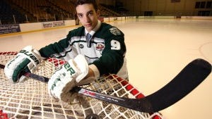 Kenny Agostino was the All Daily Record Ice Hockey Player of the Year after his senior season at Delbarton. Staff Photo/Bob Karp
