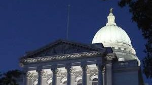 Naked man found way inside capitol building Monday night.