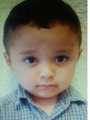 "Police say this little American boy who identifies himself as ""Luis"" was abandoned by his mother in a building in Juárez."