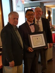 South Brunswick's Josh Liao was the Elmer Stout Award