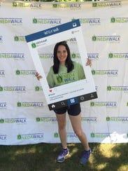 J.P. Stevens graduate Paige Sklar participates in the