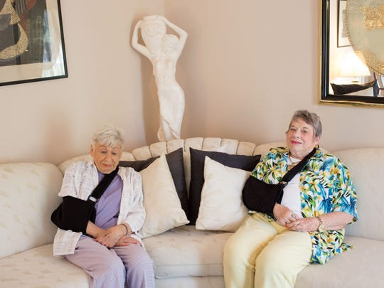 """""""Ann and Fay,"""" a digital archival photograph by Sarah Martin, is part of """"Strangely Familiar,"""" an exhibit at Bellarmine University's McGrath Gallery"""