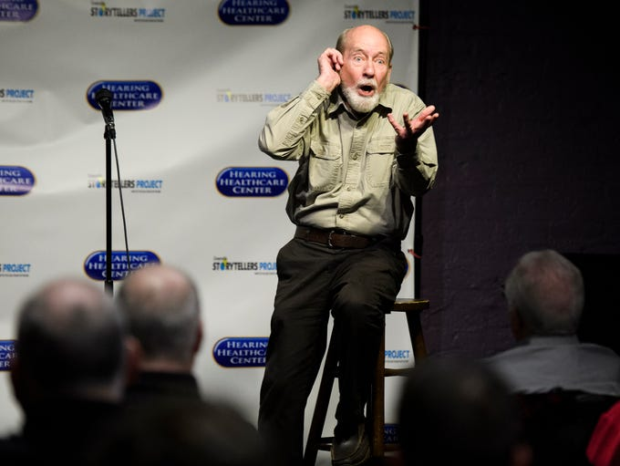 Monty Tucker, a retired jeweler and actor, speaks during