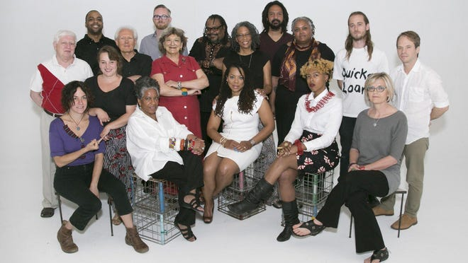 Sixteen metropolitan Detroit artists and two collectives have been awarded Kresge Artist Fellowships for 2015. Each of the 18 fellowships, rewarding literary and visual artists for their creative vision and commitment to excellence, includes an unrestricted $25,000 prize and a year of intensive professional development support. First row: Bridget Michael, Carole Harris, Airea D. Matthews, Tiff Massey, Cynthia Greig. Second row: Walerian Domanski, Faina Lerman, George Tysh, Nancy M. Mitchnick, Desiree Cooper, Lillien Waller, Jonathan Rajewski, Chris Schanck. Third row: Kahn Santori Davison, Jeffrey S. Chapman, M. Saffell Gardner, Billy Mark. (Not pictured are Annica Cuppetelli, Cristobal Mendoza and Sarah Rose Sharp.)