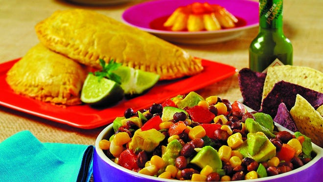 Spicy taquitos and Mexican caviar.