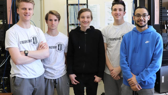 First-year CyberPatriot National Semifinal participants: Caleb Garver (Chester Academy), Joseph Cloidt (Minisink Valley HS), Travis Lysyczyn  (Minisink Valley HS), Dominick D'Amico (Warwick Valley HS), and Nicholas Petraro (Monroe-Woodbury).