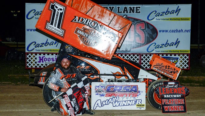 Saturday's Sprint Car win for Cory Sparks was his first at the Land of Legends Speedway.