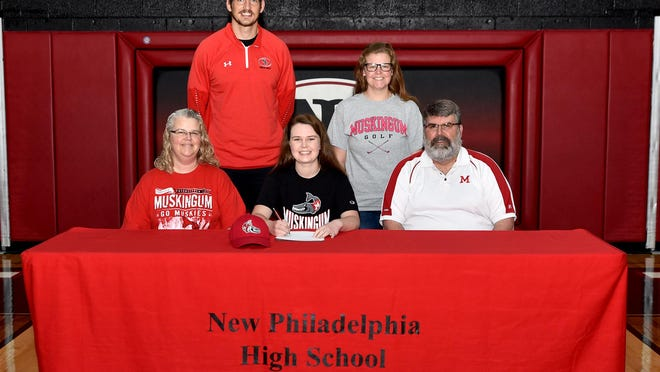 Jurkovic is joined at her signing by mother Kim,  father Eric Jurkovic, sister Samatha and NPHS head coach Kevin Cornell. Submitted photo