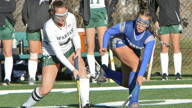 Oakmont Regional senior Audrey Dolan, left, played field hockey, basketball and lacrosse for the Spartans and plans on studying sports management at Sprinfield College while also playing field hockey for the Division III program.
