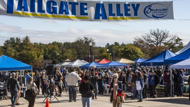 Crowds gather to celebrate Southeastern Oklahoma State University's 2019 homecoming football game. The university announced Sept. 17 that it has canceled this year's homecoming festivities in the wake of the coronavirus pandemic.