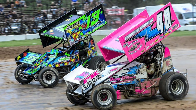 Alysha Bay (48) won the 305 Sprint points title at Land of Legends Raceway for 2020, the first female driver to win a points championship in the 57-year history of the Canandaigua track.