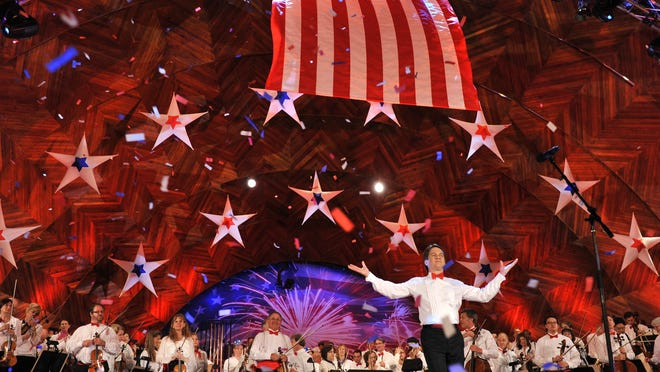 Keith Lockhart and the Boston Pops at the Hatch Shell on the Charles River Esplanade