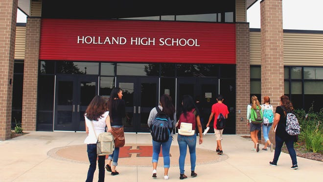 Holland High School was added to the state's School-Related Outbreak Report Monday, Jan. 11, for two cases that shared exposure in mid-December.