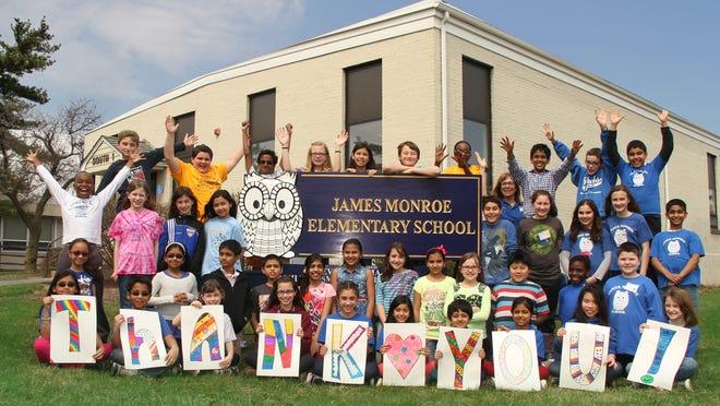 Photo of James Monroe Elementary School thank you card.