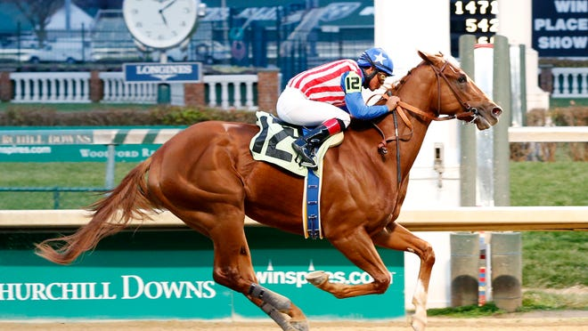 Dortmund, under jockey Martin Garcia, won a Churchill Downs allowance race Nov. 29 by 7 3/4 lengths to wind up - at least for now - the Kentucky Derby favorite.