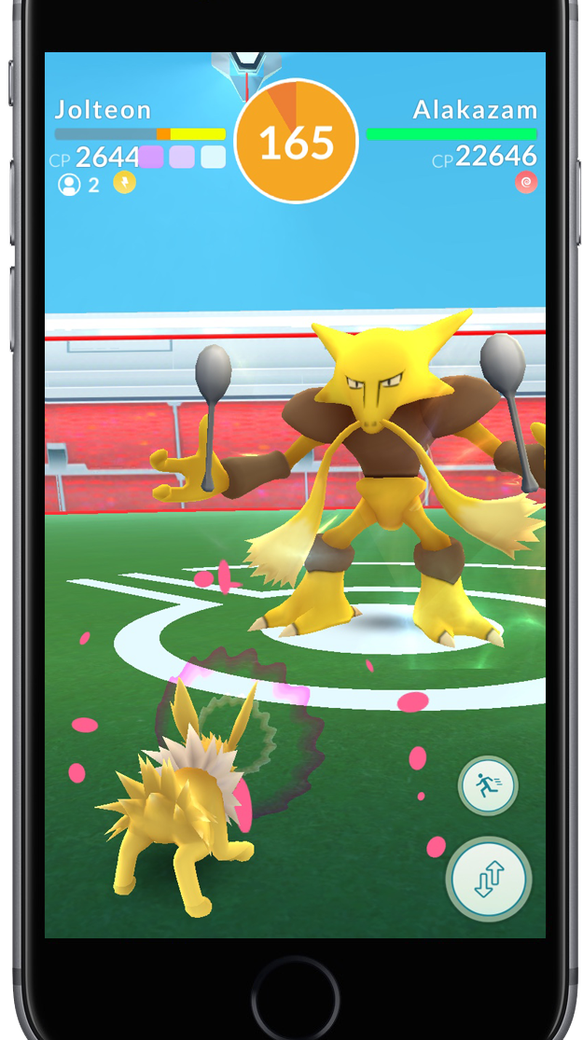 A raid battle coming soon to mobile game Pokémon Go.
