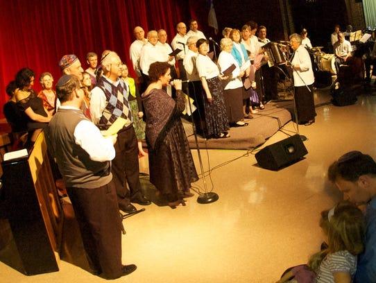 Performers at Café Tamar, AKSE's annual musical celebration