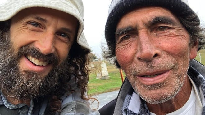 """Provincetown-raised filmmaker Mischa Richter, left, with Frederico """"Freddie"""" Rocha Jr., one of many Provincetown residents featured in Richter's documentary """"I Am a Town,"""" which will be the opening-night film for the Provincetown International Film Festival."""