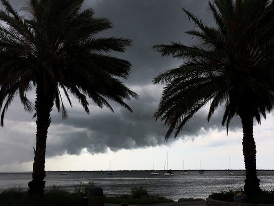 Storm clouds roll into Brevard