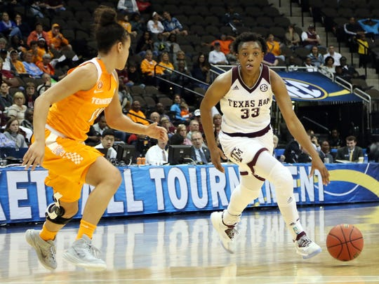Guard Courtney Walker is a key player for the Texas