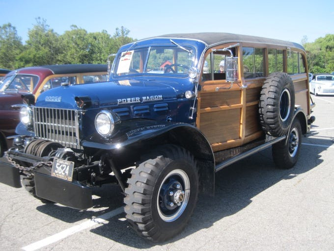 This muscular 1950 Dodge Power Wagon woodie attracted