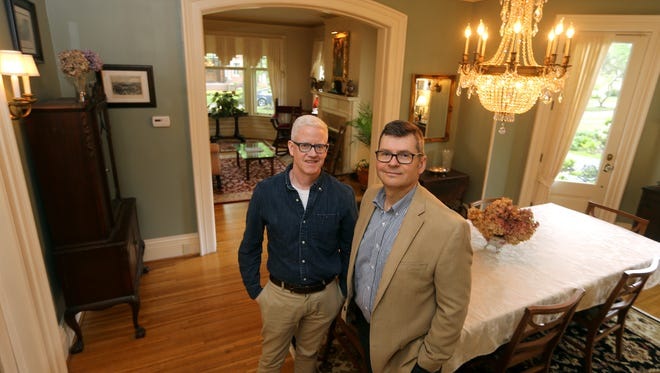 Jim Aimers and Don Symer's home on Arnold Park will be part of the Landmark Society's 47th annual House and Garden Tour.