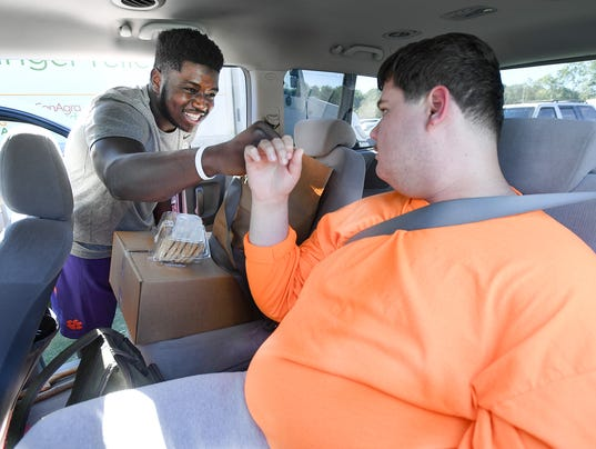 Clemson football team's community service project