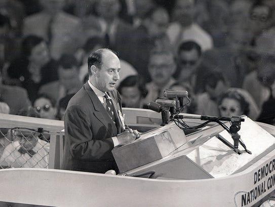 In this July 25, 1952, file photo, Illinois Gov. Adlai