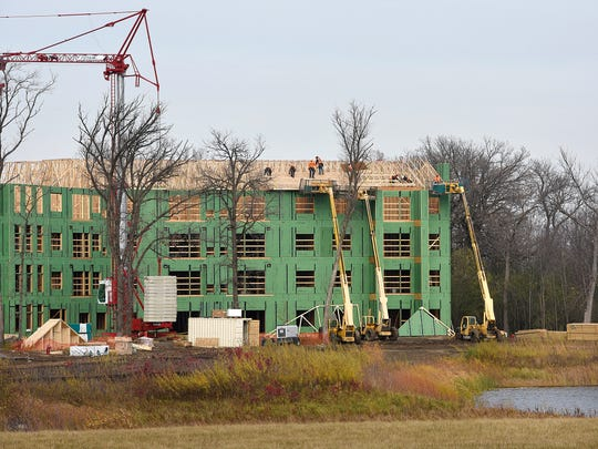 Work continues on the Chateau Waters senior housing