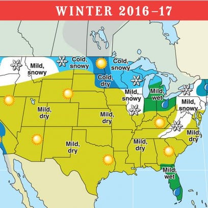 Old Farmer's Almanac 206-17 winter forecast.