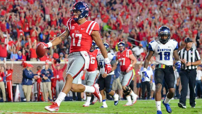 Ole Miss tight end Evan Engram was named first-team All-SEC by the league's coaches on Tuesday.