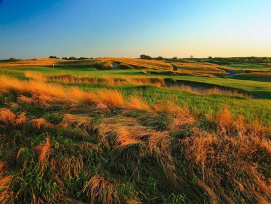 The 11th hole of Erin Hills golf course, host of the