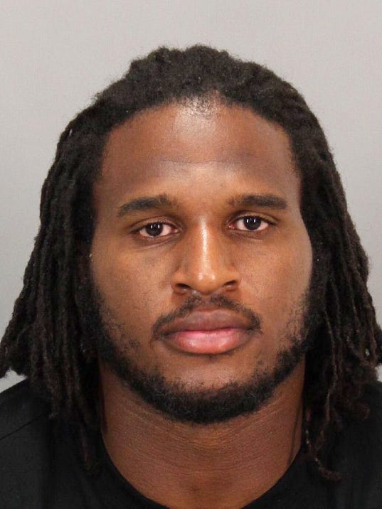 San Francisco 49er defensive end Ray McDonald is seen in an undated photo provided by the San Jose Police Department. McDonald, 29, was arrested early Sunday, Aug. 31, 2014 by San Jose Police on felony domestic violence charges. San Jose police Sgt. Heather Randol says McDonald was taken into custody after officers responded to a home in an upscale neighborhood.  (AP Photo/San Jose Police Department)
