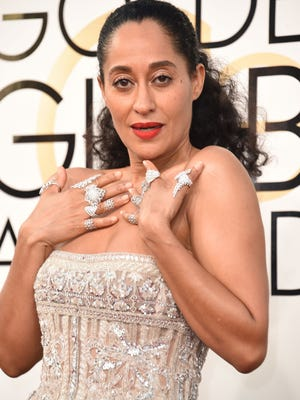 Before she won best actress in a comedy series, Tracee Ellis Ross served glittering elegance in Zuhair Murad on the Globes red carpet.