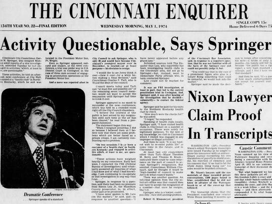The May 1, 1974 edition of The Enquirer.