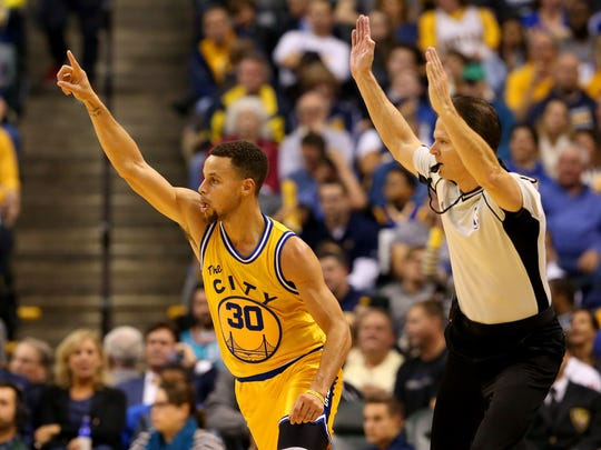 Golden State's Stephen Curry became the first unanimous MVP in the league's history. He also won the award last season.