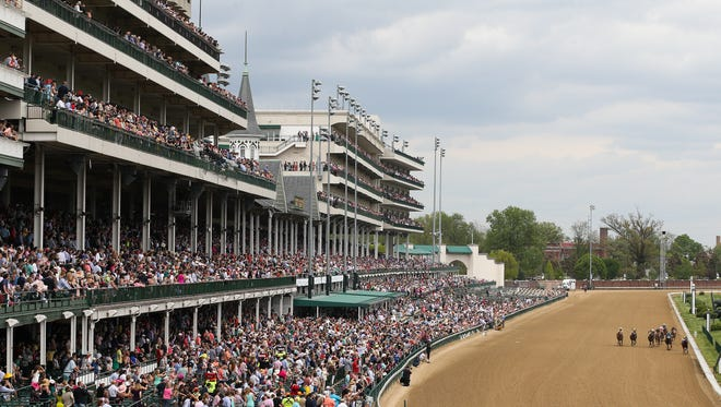 The stands were pretty full for Thurby at Churchill Downs.
