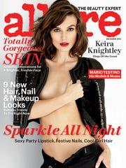"Keira Knightley on the cover of ""Allure"" in December"
