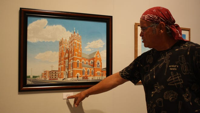 Victor Lay explains his process behind his colored-pencil drawing of St. Mary's Church.