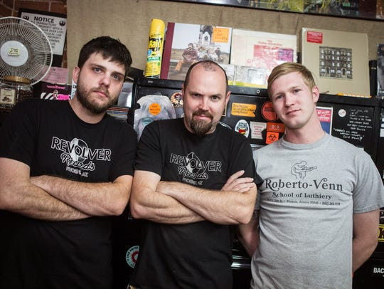 The dedicated staff at Revolver Records in Phoenix
