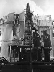 On January 16, 1977, a large fire destroyed the Upstage