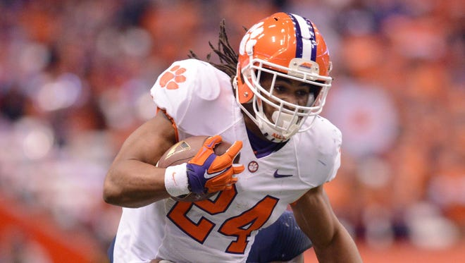 Clemson and running back Zac Brooks may have a growing challenge within their own league in the form of North Carolina, which is rising in the 1-128 Re-rank.