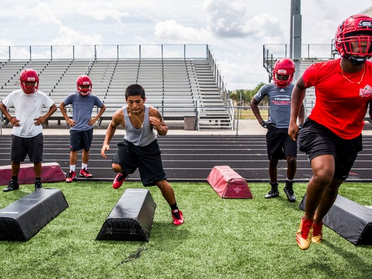 The Immokalee football team has its first spring practice at Immokalee High School on Monday.