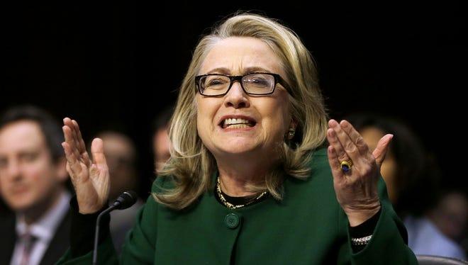 Hillary Clinton in 2013, before a Senate hearing on Benghazi.
