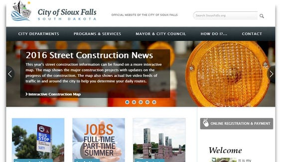 This screen shots shows what siouxfalls.org looked