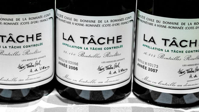 Wines from the wine producer Domaine de la Romanee-Conti in Burgundy, France.